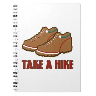Take A Hike Spiral Notebooks