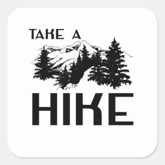 Take a Hike Square Sticker
