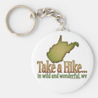 Take a Hike...State_2 Basic Round Button Key Ring