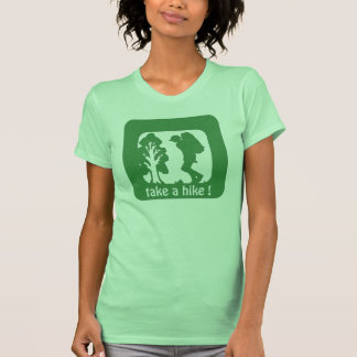 take a hike the outdoors women's tshirts