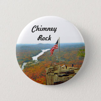 Take A Hike Up To Chimney Rock 6 Cm Round Badge