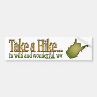 Take a Hike...WV State Sticker Bumper Sticker