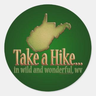 Take a Hike...WVState Round Sticker