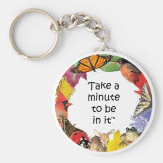 Take A Minute Keychain (Eastern)