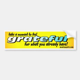 TAKE A MOMENT TO FEEL GRATEFUL BUMPER STICKER