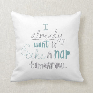'Take a nap' hand lettered design cushion
