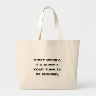 Take a number for personalized customer service (2 tote bags