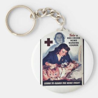 Take-A Red Gross Home Nursing Course Keychains