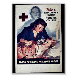 Take-A Red Gross Home Nursing Course Posters