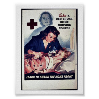 Take-A Red Gross Home Nursing Course Poster
