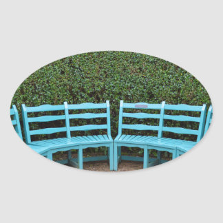 Take a seat oval sticker