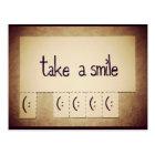 Take a Smile Inspirational Postcard
