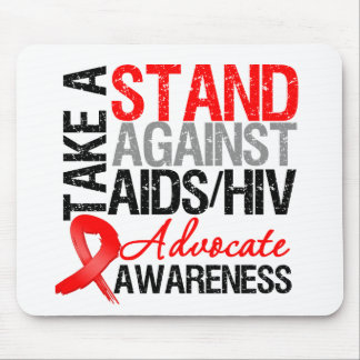 Take a Stand Against AIDS HIV Mouse Pad