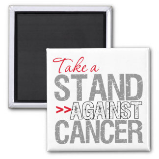Take a Stand Against Cancer - Lung Cancer Square Magnet