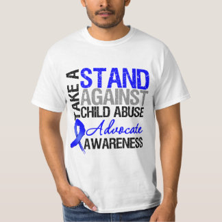 Take A Stand Against Child Abuse T Shirt