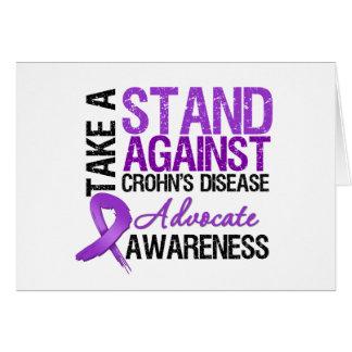 Take a Stand Against Crohn's Disease Greeting Card