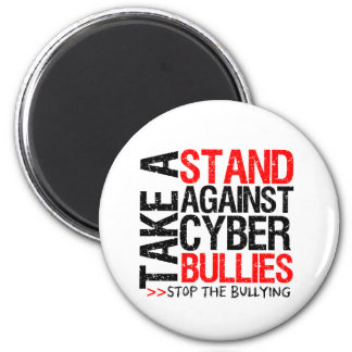 Take a Stand Against Cyber Bullies Fridge Magnets