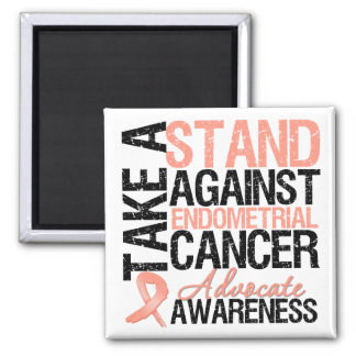 Take a Stand Against Endometrial Cancer Square Magnet