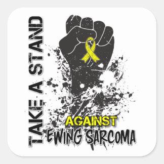 Take a Stand Against Ewing Sarcoma Square Sticker