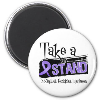Take a Stand Against Hodgkins Lymphoma 6 Cm Round Magnet