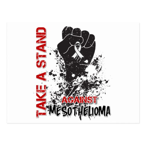 Take a Stand Against Mesothelioma Cancer Postcard