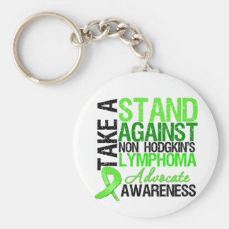 Take a Stand Against Non Hodgkin s Lymphoma Keychain