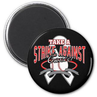 Take a Strike Against Lung Cancer Fridge Magnets