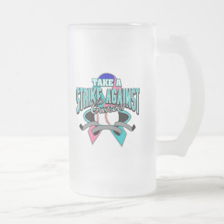 Take a Strike Against Thyroid Cancer Frosted Glass Mug