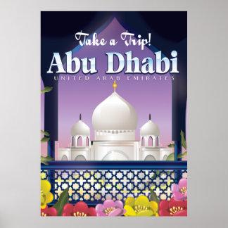 Take a Trip Abu Dhabi Vintage travel poster