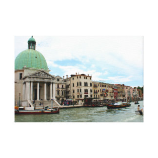 Take a trip down the Grand Canal in Venice Gallery Wrapped Canvas