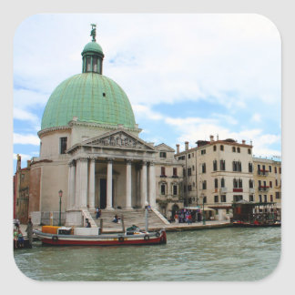 Take a trip down the Grand Canal in Venice Square Stickers