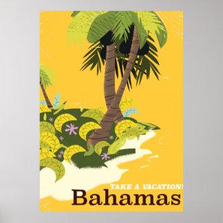 Take a Vacation Bahamas vintage travel poster