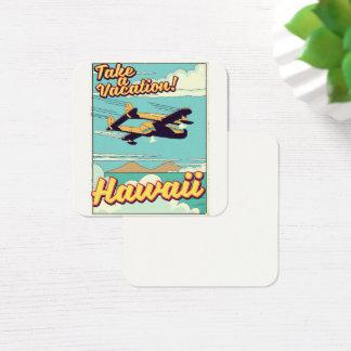 Take a vacation! Hawaii travel cartoon Square Business Card