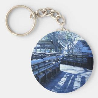 Take a walk basic round button key ring
