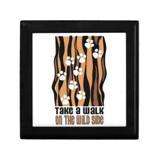 Take A Walk On The Wild Trinket Boxes