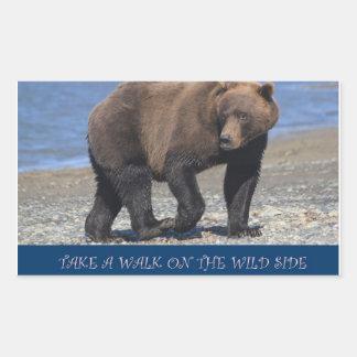 take a walk on the wild side alaska bear sticker