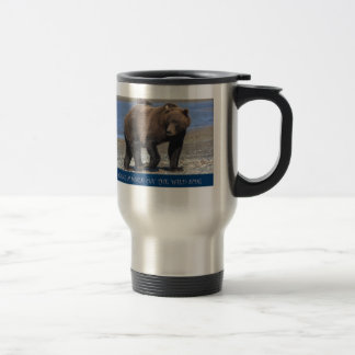 Take a Walk on the wild side Brown Bear gifts Stainless Steel Travel Mug