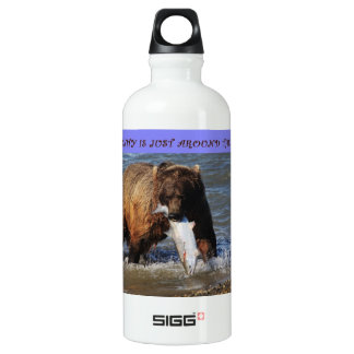 take a walk on the wild side grizzly bear liberty  SIGG traveller 0.6L water bottle