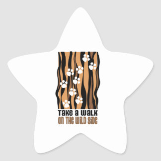 Take A Walk On The Wild Star Sticker