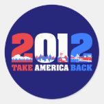 Take America Back 2012 Sticker
