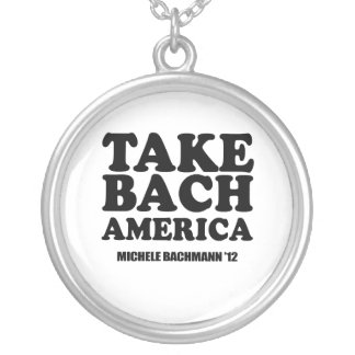 TAKE BACH AMERICA ROUND PENDANT NECKLACE