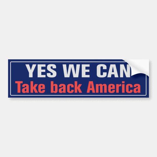 Take Back America Bumper Sticker