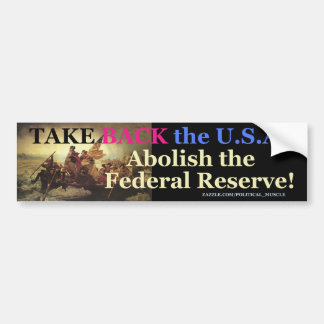 TAKE BACK THE U.S.A. BUMPER STICKER