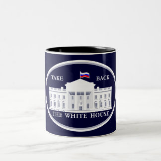 Take Back the White House from Russia Two-Tone Coffee Mug