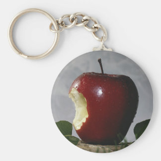 Take Bite Out Of Apple Basic Round Button Key Ring