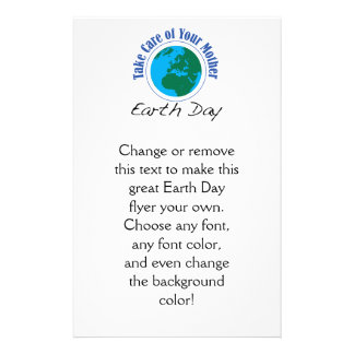 Take Care of Your Mother - Earth Day 14 Cm X 21.5 Cm Flyer