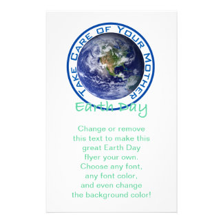 Take Care of Your Mother - Earth Day Custom Flyer