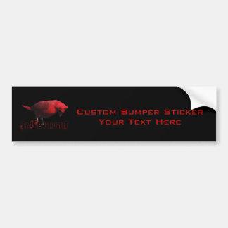 Take Flight 3D Cardinal Bumper Sticker
