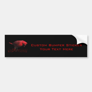 Take Flight 3D Cardinal Car Bumper Sticker