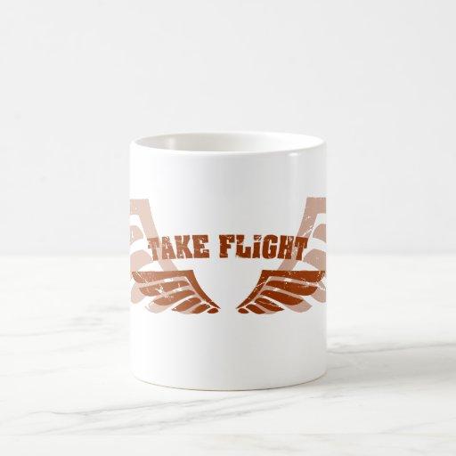 Take Flight Aviation Wings Basic White Mug